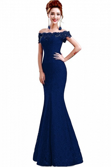 Off-the-Shoulder Lace Mermaid Prom Dress Long Evening Party Gowns Online_8