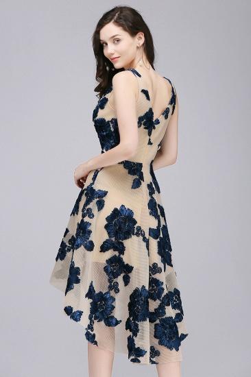 BMbridal Short Appliques Tulle V Neck Prom Dress_6