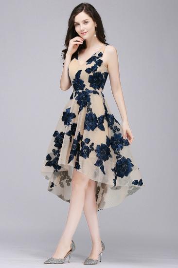 BMbridal Short Appliques Tulle V Neck Prom Dress_3
