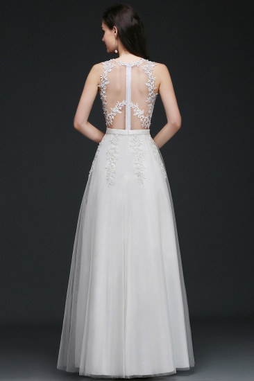 BMbridal A-Line Sleevelss Long Prom Dress With Lace Appliques_4