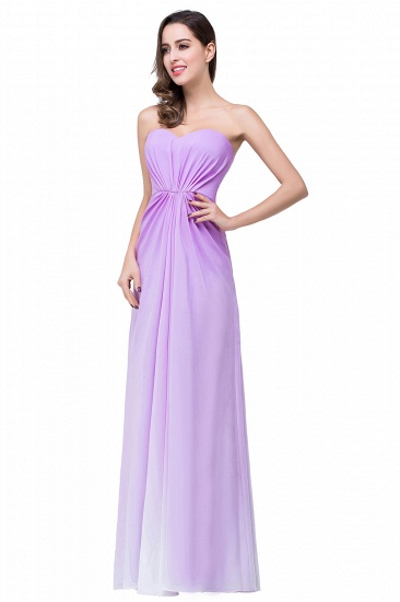 Gorgeous A-line Strapless Lilac Chiffon Bridesmaid Dress Cheap In Stock_4