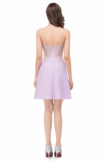 BMbridal Short Applique Sleeveless Prom Homecoming Dress_7