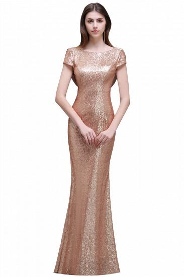 BMbridal Women Sparkly Rose Gold Long Sequins Bridesmaid Dress_5