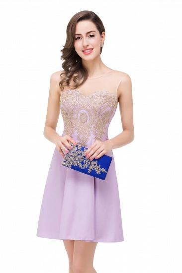 BMbridal Short Applique Sleeveless Prom Homecoming Dress_12