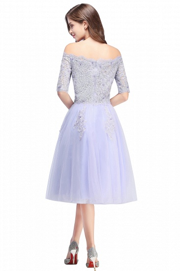 BMbridal A-line Short Sleeves Tulle Lace Flower Girl Dress_3