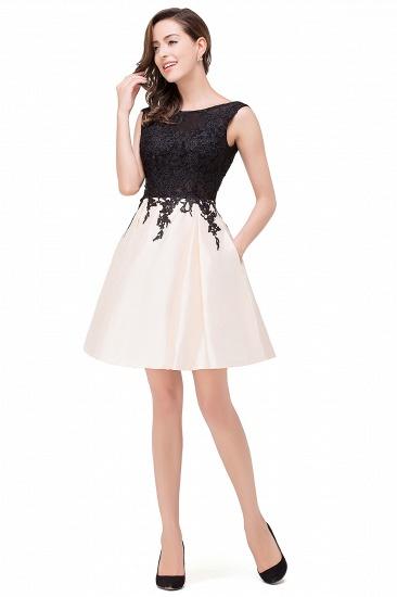 BMbridal Short A Line Applique Tutu Prom Party Dress_10