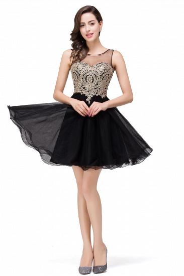 BMbridal Short A-line Sleeveless Little Black Dress Online_11