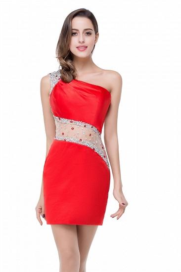 BMbridal Crystal Beading One-shoulder Short Mermaid Prom Dress_8