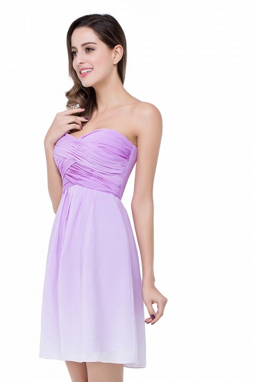 BMbridal A-line Strapless Chiffon Bridesmaid Dress with Draped_4