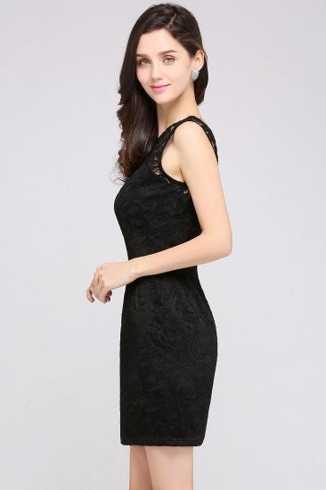 BMbridal Sleeveless Bodycon Black Lace Short Sexy Cocktail Dress_11