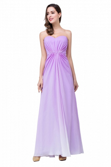 Gorgeous A-line Strapless Lilac Chiffon Bridesmaid Dress Cheap In Stock_9