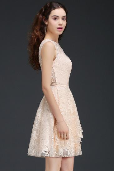 BMbridal Modern Lace Pearl Pink Illusion Sleeveless Short Homecoming Dress_4