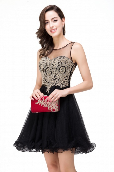 BMbridal Short A-line Sleeveless Little Black Dress Online_12