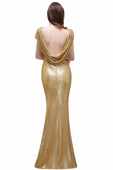 BMbridal Women Sparkly Rose Gold Long Sequins Bridesmaid Dress_7