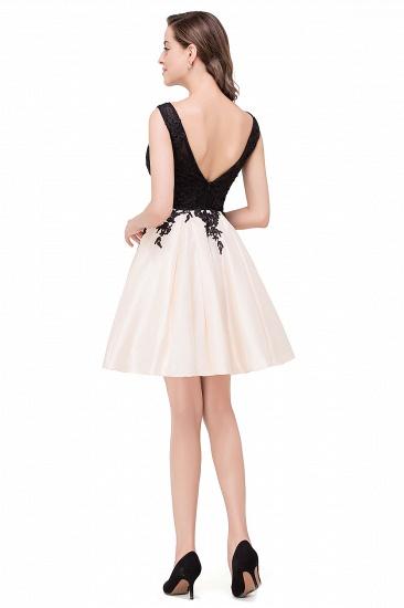BMbridal Short A Line Applique Tutu Prom Party Dress_8