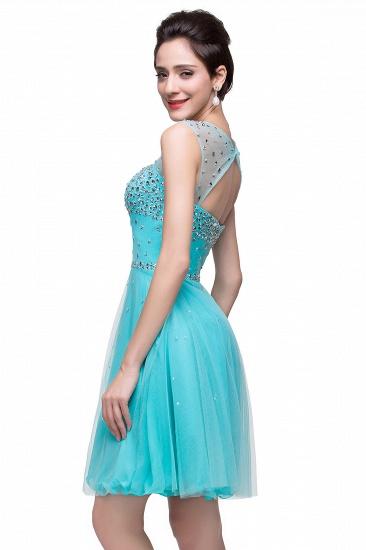 BMbridal Open Back Sleeveless Chiffon Homecoming Dress Crystal Beads Tulle Short Prom Dress_10