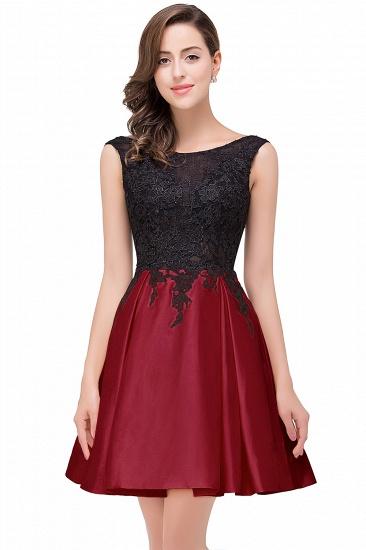 BMbridal Short A Line Applique Tutu Prom Party Dress_4