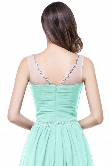 BMbridal A-line Court Train Chiffon Party Dress With Beading_11