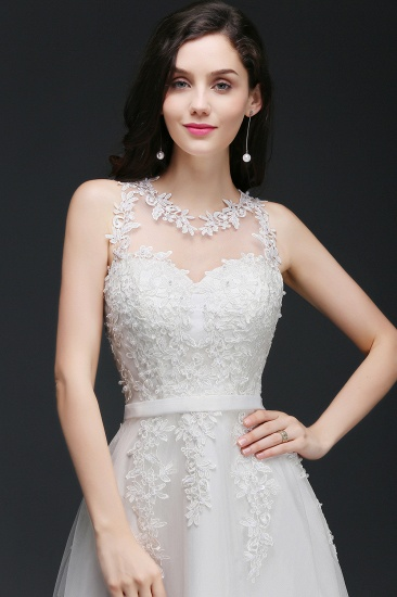 BMbridal A-Line Sleevelss Long Prom Dress With Lace Appliques_5