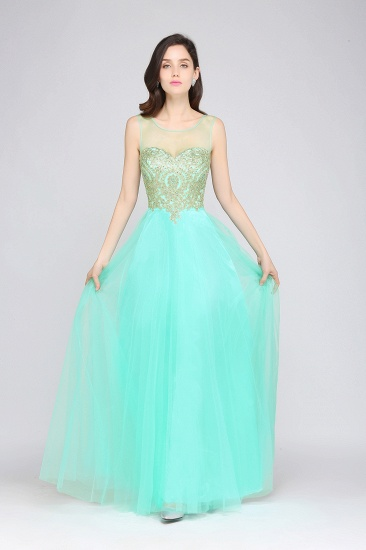 BMbridal Gorgeous Illussion Scoop Long Prom Dress With Lace Appliques_10