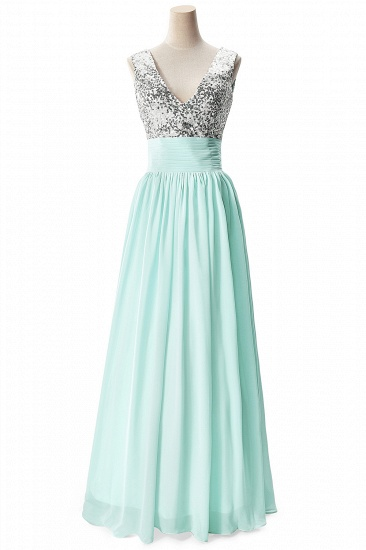 BMbridal A-line V-neck Chiffon Party Dress With Sequined_5
