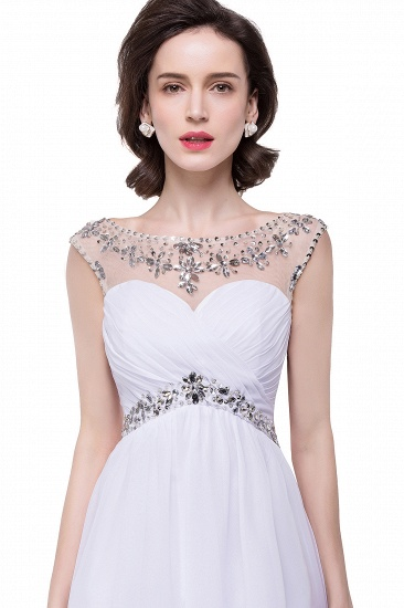 BMbridal A-line Jewel Chiffon Party Dress With Crystal_8