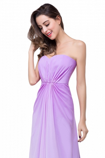 Gorgeous A-line Strapless Lilac Chiffon Bridesmaid Dress Cheap In Stock_10