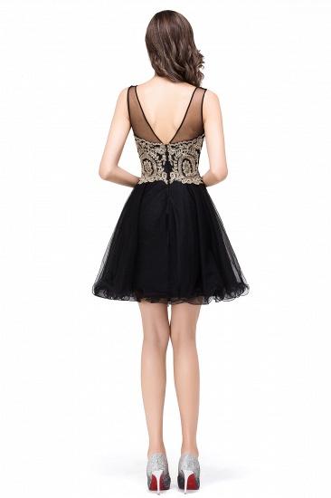 BMbridal Short A-line Sleeveless Little Black Dress Online_8