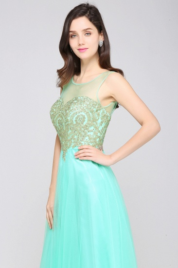 BMbridal Gorgeous Illussion Scoop Long Prom Dress With Lace Appliques_13