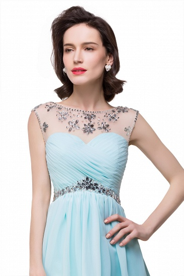 BMbridal A-line Jewel Chiffon Party Dress With Crystal_5
