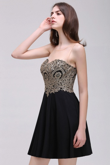 BMbridal Black Short A-line Homecoming Dress_4