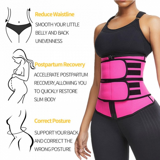 BMbridal Body Shaper Wrap Belt Waist Trainer Cincher Corset Fitness Sweat Belt Girdle Shapewear_5