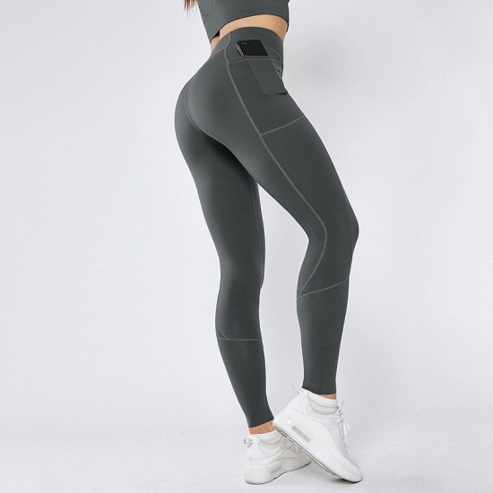 BMbridal 2021 New Women Yoga Pants With Pocket High Waist Sports Gym Wear Leggings Elastic Fitness Lady Overall Full Tights Workout_1