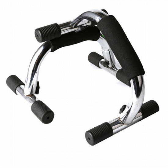 BMbridal H-shaped Chromed Metal Detachable Push Up Bar Strengthen Arm Chest Muscles Traning Device_2