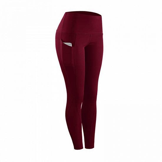Women Legging With Pocket Workout Yoga Fitness Skinny Tights Gym Sport Stretch Fit Solid Jogging Slim Pants Legging_4