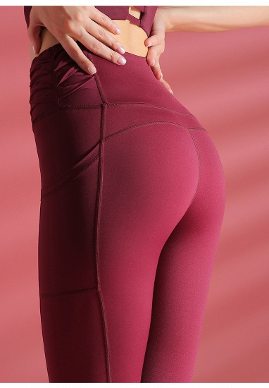 Newest Women Yoga Pants With Pocket High Waist Sports Gym Wear Leggings Fitness Girls Running Exercise Outfits Free Shipping_8