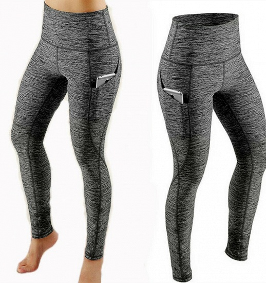 Women Legging With Pocket Workout Yoga Fitness Skinny Tights Gym Sport Stretch Fit Solid Jogging Slim Pants Legging_7