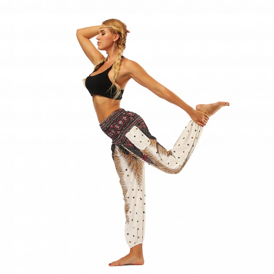 BMbridal Newest Flora Printed Designed Latern Pockets Women Yoga Pants Outdoor Indoor Gym Sports Exercises Women Lose Athletic Trousers_6