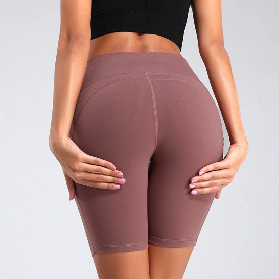 New Women Sports Yoga Shorts Ladies' Camouflage Pockets Hip-tightening Running Fitness Yoga Trouser Sport Fitness Shorts_2
