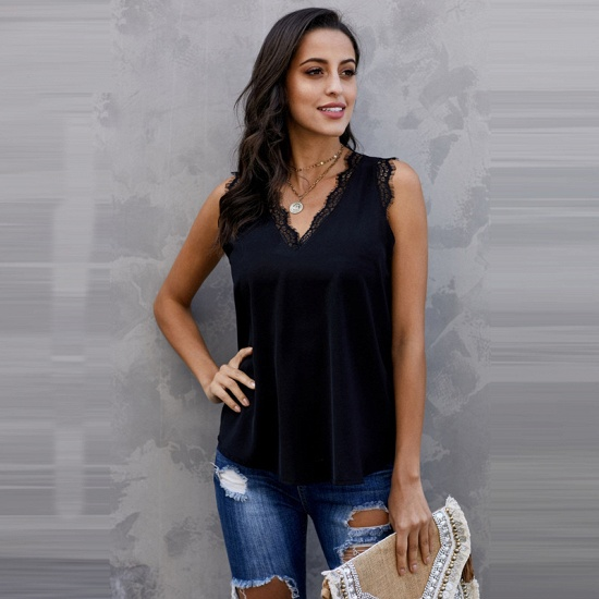 BMbridal Women Vest Summer Wear Casual Lace Sleeveless Top_2
