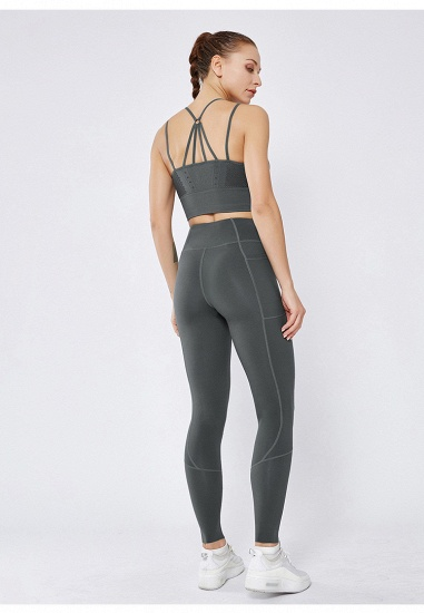 BMbridal 2021 New Women Yoga Pants With Pocket High Waist Sports Gym Wear Leggings Elastic Fitness Lady Overall Full Tights Workout_5
