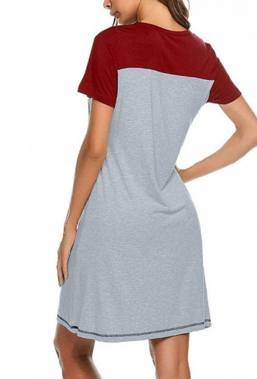 Women's Casual A-Line Maternity & Breastfeeding Dress with Short Sleeves_11