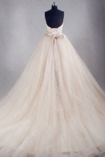 BMbridal Ball Gown Strapless Sweetheart Tulle Wedding Dress Sweetheart Sleeveless Ruffles Bridal Gowns Online_2