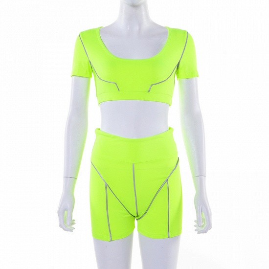 Women Tracksuit Solid Yoga Set Patchwork Running Fitness Jogging Bra Leggings Sports Suit Gym Sportswear Workout Clothes_12