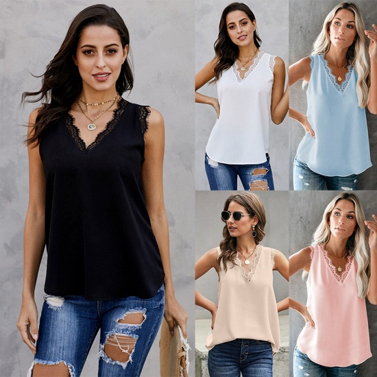 BMbridal Women Vest Summer Wear Casual Lace Sleeveless Top_4