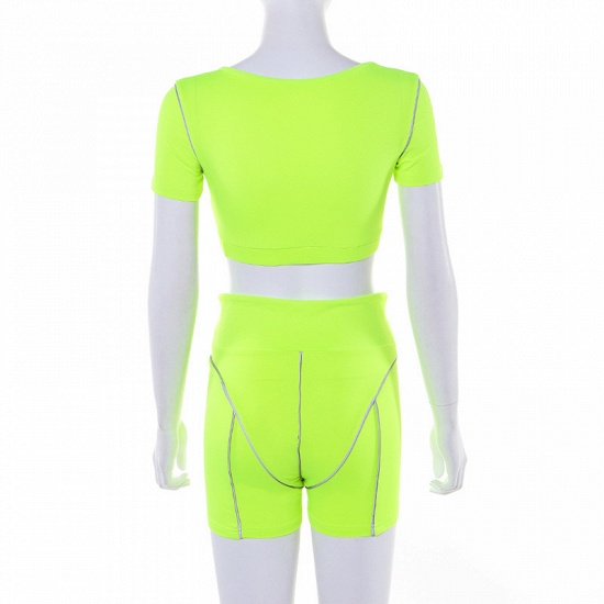 Women Tracksuit Solid Yoga Set Patchwork Running Fitness Jogging Bra Leggings Sports Suit Gym Sportswear Workout Clothes_14