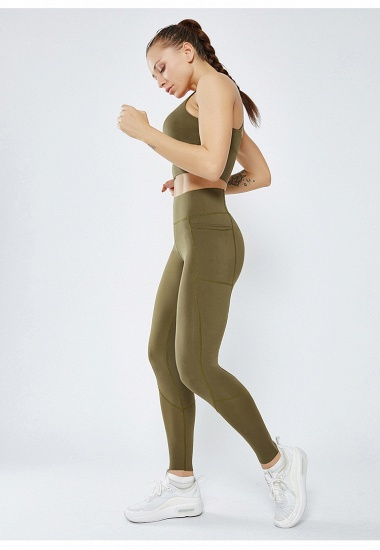 BMbridal 2021 New Women Yoga Pants With Pocket High Waist Sports Gym Wear Leggings Elastic Fitness Lady Overall Full Tights Workout_7
