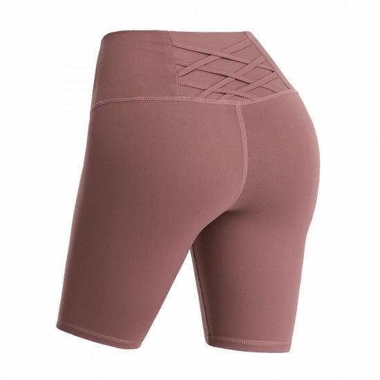 BMbridal Yoga Shorts Women Sports Wear Fitness Short Pants Skinny Female Push Up Gym Clothing Solid Color Elastic Breathable Flex_2