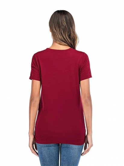 Comfortable Printed T-shirt Maternity Clothes with Short Sleeves On Sale_2