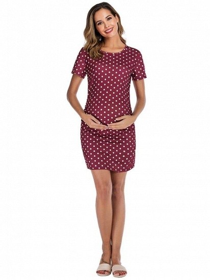 BMbridal Vintage Women Short Sleeves Maternity Dress with Polka Dots On Sale_4